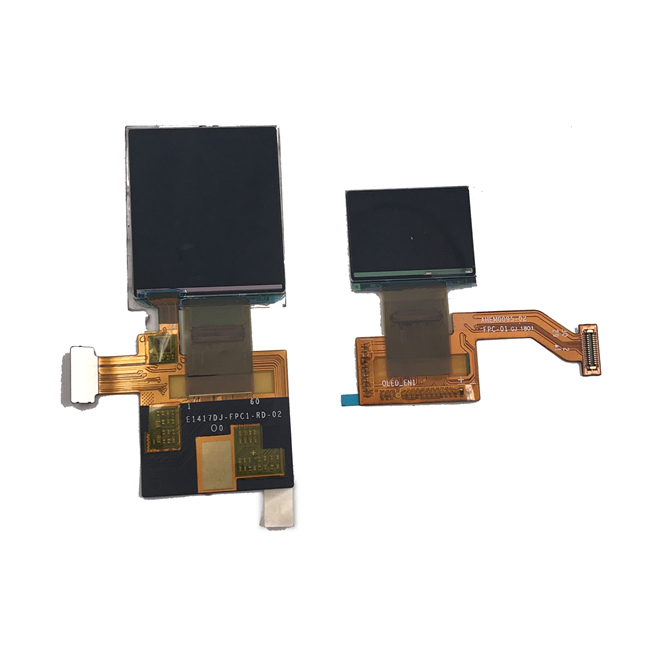 High Contrast Flexible Square OLED Display 1.12 Inch Small Size Color Screen