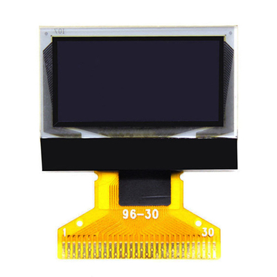 White PMOLED 0.96 Oled Display 128x64  2.6-3.5V Folding Type